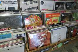 Find new releases on vinyl at Hogwild Records, which also sells turntables.
