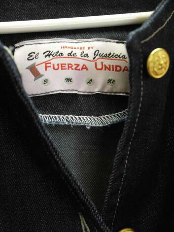 The collection's label on premium organic denim. Photo: Michael Quintanilla, Staff
