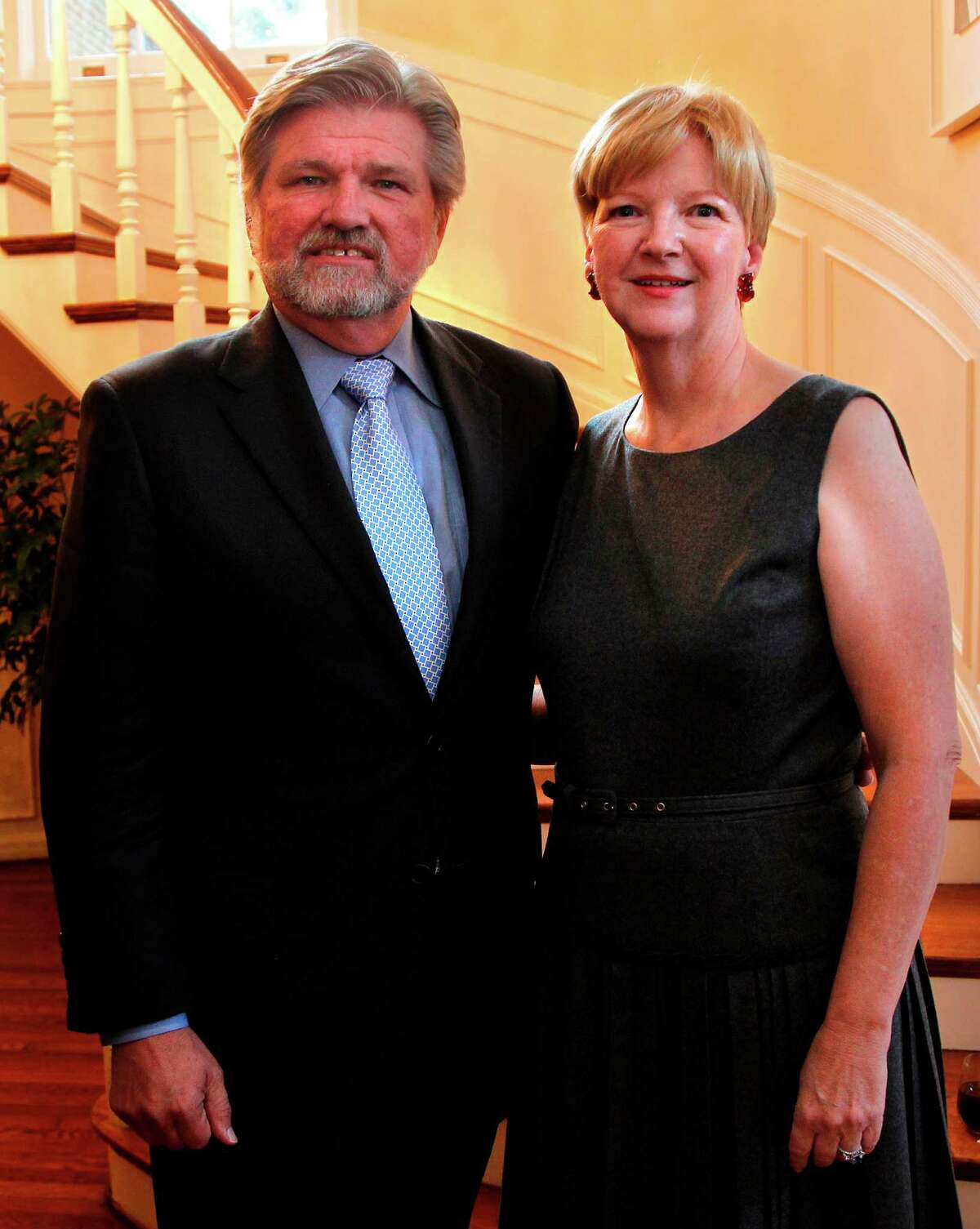 Robert Lynch and Leslie Blanton , President and CEO of Americans for the Arts, with a cocktail party.