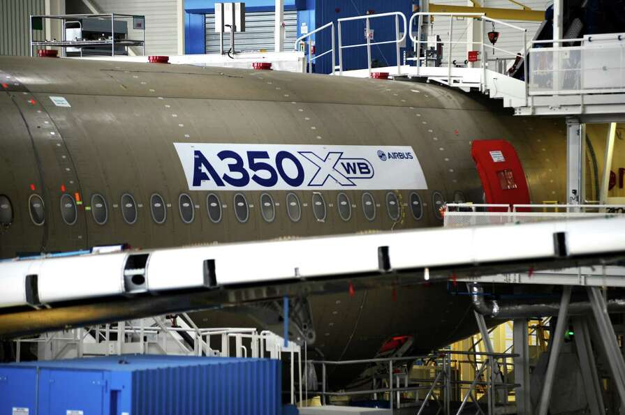 An Airbus A350 XWB is shown.