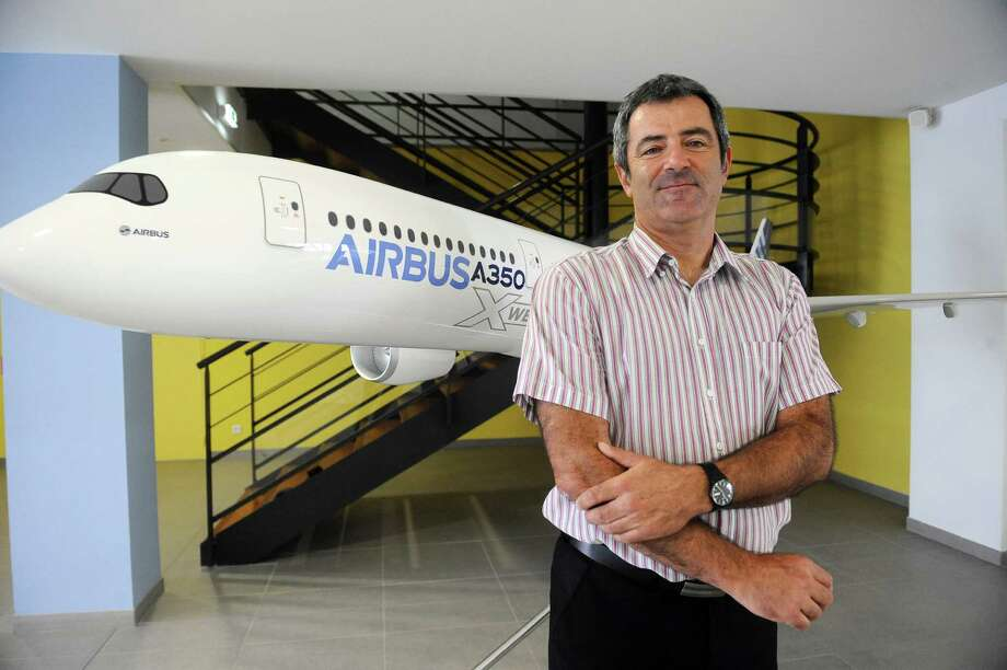 Eric Poyet, head of Airbus A350 XWB assembly, poses at the plant. Photo: AFP, AFP/Getty Images / 2012 AFP