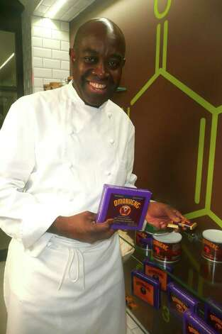 "Chef François Kwaku-Dongo's Chocolate Lab showcases the process of making chocolate. ""In the U. S. I learned how cocoa beans became chocolate,"" he says, ""I fell in love with chocolate."" Photo: Anne W. Semmes"