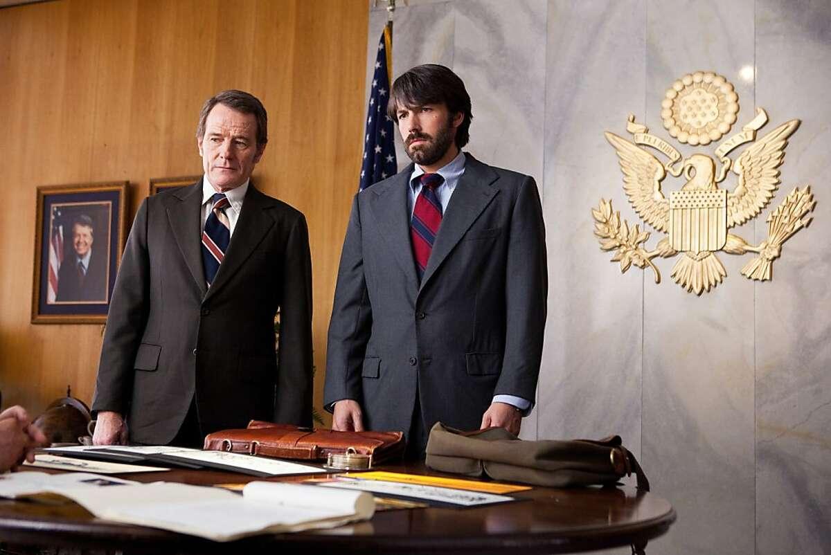 "Bryan Cranston and Ben Affleck in ""Argo"" (L-r) BRYAN CRANSTON as Jack O'Donnell and BEN AFFLECK as Tony Mendez in Warner Bros. Pictures' and GK Films' dramatic thriller �""ARGO,"" a Warner Bros. Pictures release."