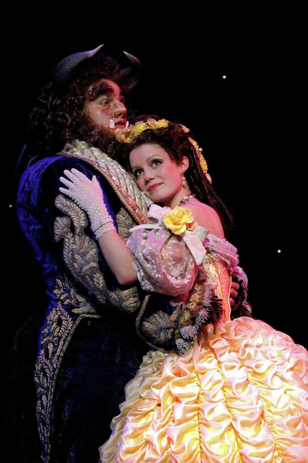 DISNEY S BEAUTY AND THE BEAST - Dane Agostinis as Beast and Emily Behny as Belle.  Photo by Joan Marcus Photo: Joan Marcus / ©2010, Joan Marcus