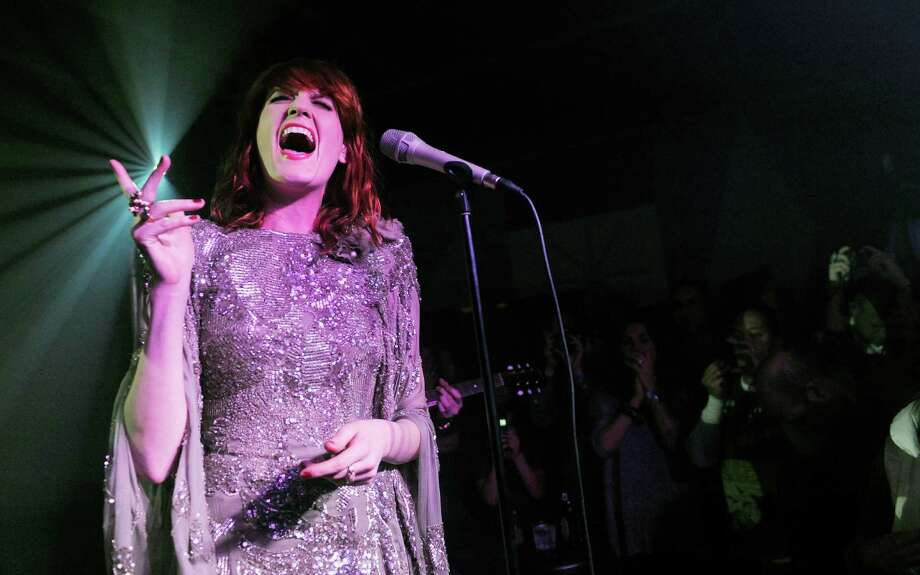 Florence Welch of Florence + The Machine is the latest star to channel Janis Joplin.  Photo: Chris Pizzello / AP