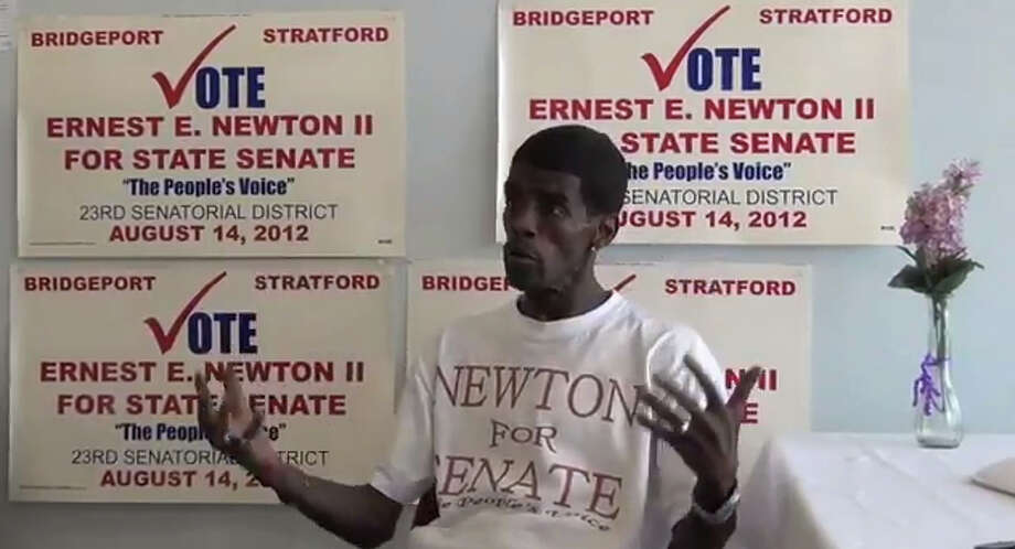 """Coming to the Bijou Theater in Bridgeport - a film about """"the Moses of his people,"""" former state Sen. Ernie Newton.  It's a story of Newton's """"Redemption and Opportunity"""" in his losing bed to return to the Legislature. Photo: Contributed Photo / Connecticut Post Contributed"""