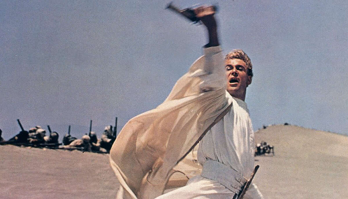 Another film that lends its style to Star Wars is the classic Lawrence of Arabia. Battle sequences in the desert were particularly influential for Lucas, and he even put a clear homage to the film in Attack of the Clones. A scene of Padme and Anakin walking through a palace in Naboo is the same location (the Plaza de España in Sevilla) where another walking-and-talking scene (with Claude Rains) was shot in Lawrence of Arabia.