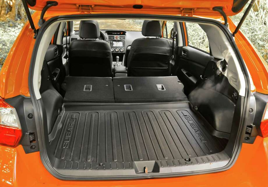 Rear seatbacks fold flat to expand cargo capacity to 51.9 cubic feet.