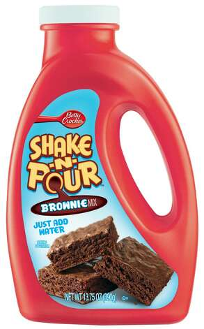Betty Crocker Shake-n-Pour Brownies.
