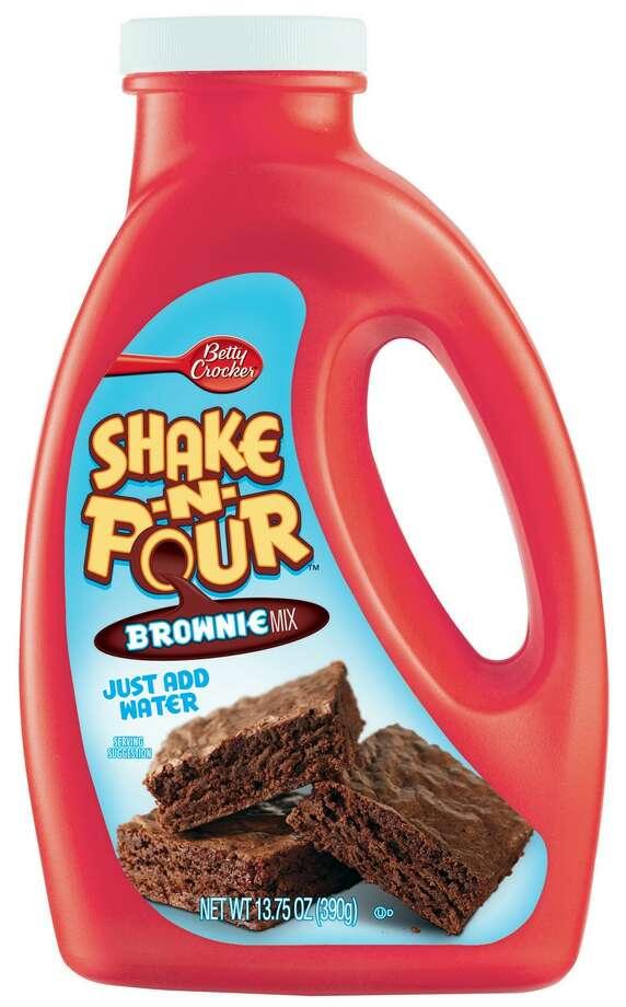 Betty Crocker Shake-n-Pour Brownies.
