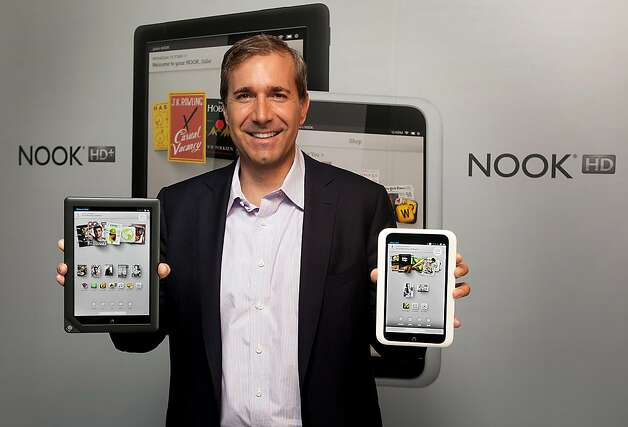 Barnes & Noble CEO William Lynch says the Nook HD and HD+ models are cheaper iPad alternatives. Photo: Michelle McLoughlin, Bloomberg