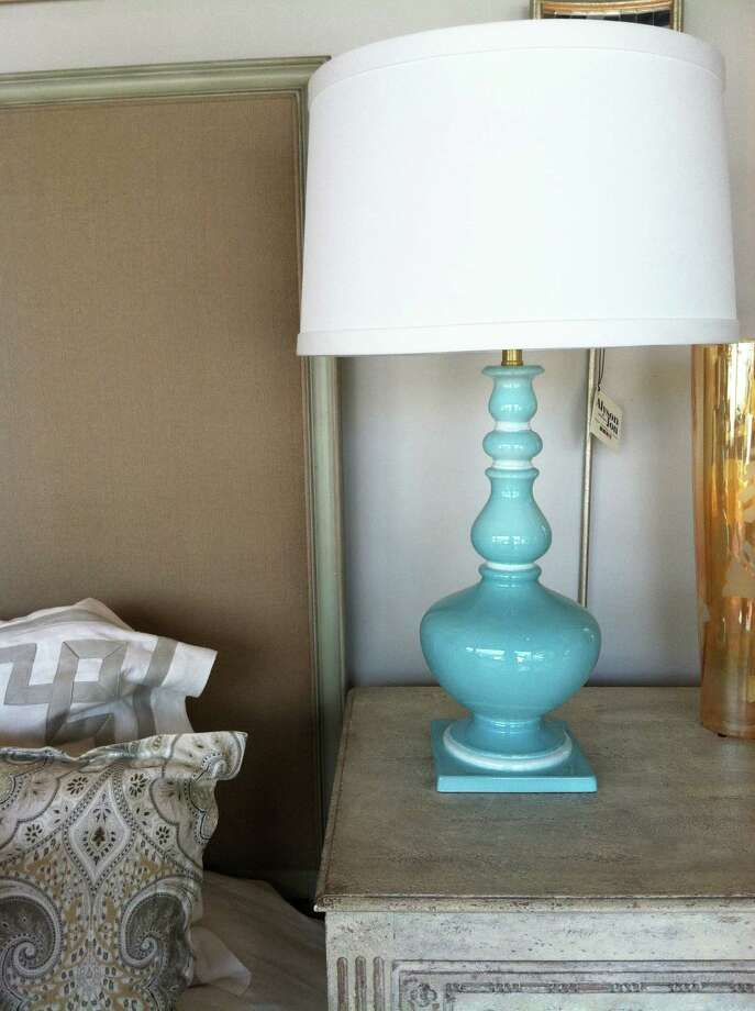 Aqua manor lamp, $779, Alyson Jon, 2401 Bissonnet; 713-524-3171, www.alysonjon.com. Photo: Melanie Warner