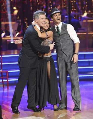 Tom Bergeron, Tony Dovolani and Melissa Rycroft. (ABC)