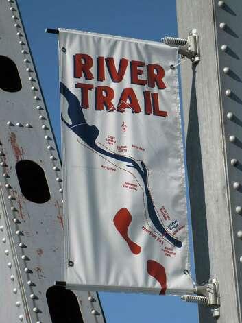 A banner for the Arkansas River Trail. Photo: Betty Luman