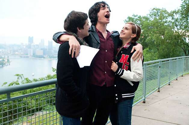 (L to R) LOGAN LERMAN, EZRA MILLER and EMMA WATSON star in THE PERKS OF BEING A WALLFLOWER Photo: John Bramley, Summit Entertainment
