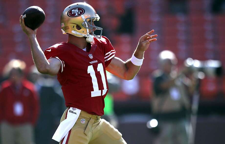 Niners quarterback Alex Smith isn't exactly known for the 80-yard touchdown pass. Photo: Lance Iversen, The Chronicle