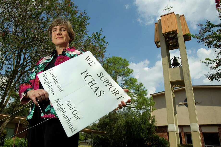 Lisa Gossett, at St. John's Presbyterian Church, says opposition to the church's multifamily development for single mothers will only hurt her Meyerland neighborhood. Photo: Brett Coomer / © 2012 Houston Chronicle