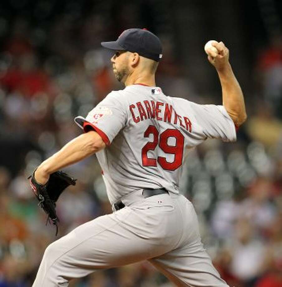Chris Carpenter (29) pitches during the first inning. ( Karen Warren / Houston Chronicle ) (Karen Warren / Houston Chronicle)