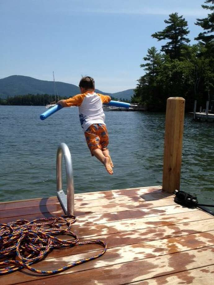 Darren Donohue  Summer 2012 may be history, but wasn't it fun? Ask    Jack Donohue. Jack, 4 years old, shows no fear as he jumps into Lake George.