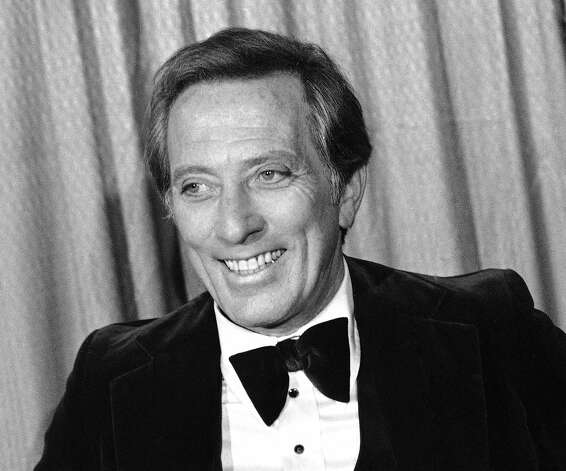 "This Feb. 23, 1978 file photo shows performer and host Andy Williams at the Grammy Awards in Los Angeles. Williams, who had a string of gold albums and hosted several variety shows and specials like ""The Andy Williams Show,"" died Tuesday, Sept. 25, 2012, at his home in Branson, Missouri, following a yearlong battle with bladder cancer. He was 84. Photo: Lennox McLendon"