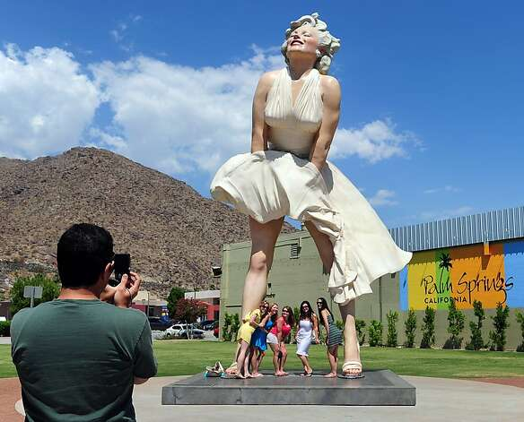 Forever Marilyn statue, Palm Springs Photo: Frederic J. Brown, AFP/Getty Images