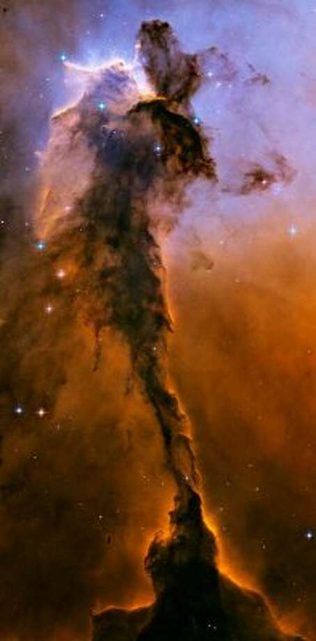 A different view of a portion of the Eagle Nebula.