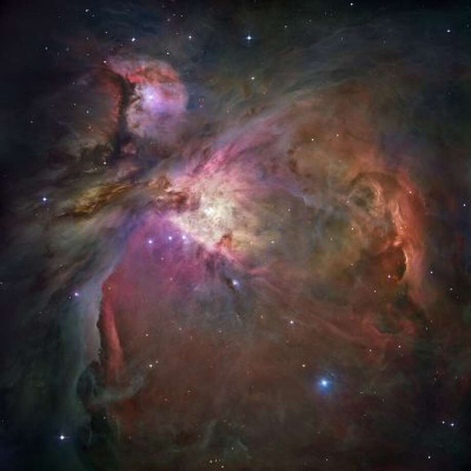 The nebula in Orion, about 1,500 light years away.