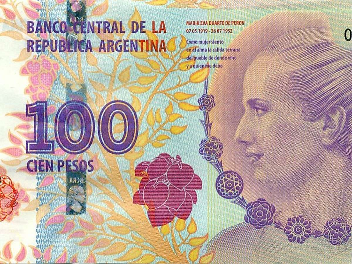 Announced in July, Argentina's new 100-peso note featuring the late Eva Peron was delayed by printing issues but is now in circulation, with 20 million total to be printed.