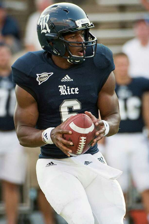 Driphus Jackson has played in each of Rice's four games and scored an overtime TD against Marshall. Photo: Smiley N. Pool / © 2012  Houston Chronicle