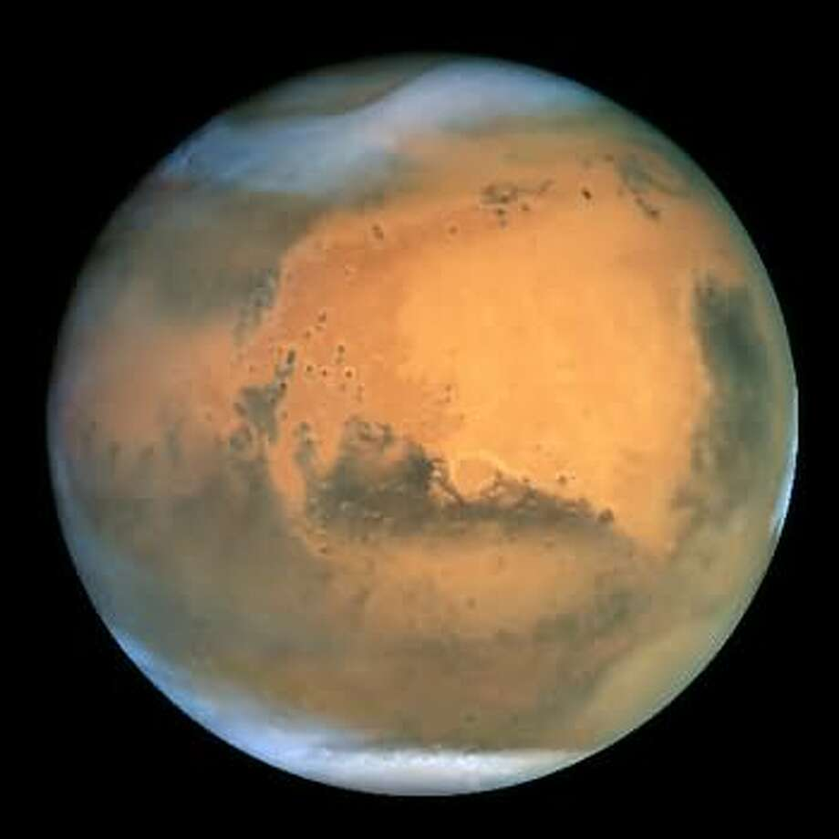 A different dust storm on Mars.