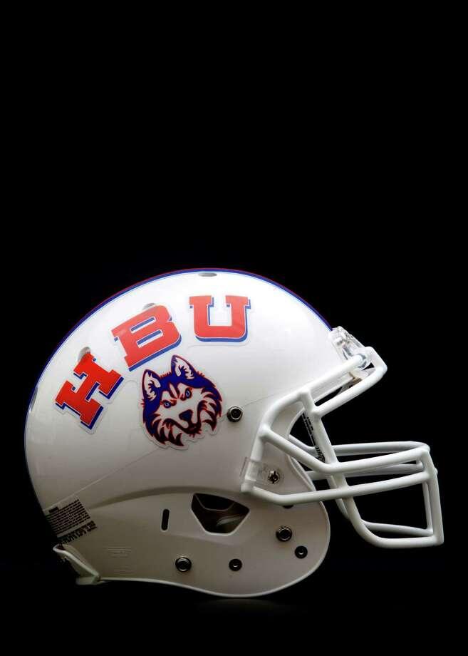 hbu puts football helmets on display houston chronicle