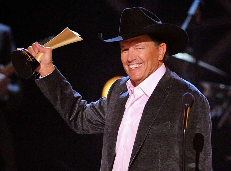 George Strait accepts the Artist of the Decade award at the ACM Artist of the Decade All Star Concert on Monday, April 6, 2009, in Las Vegas. Photo: Mark J. Terrill, AP / AP