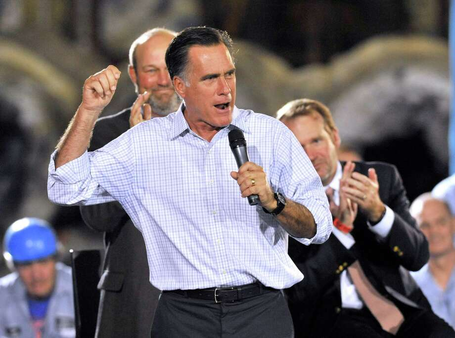 Republican presidential candidate, former Massachusetts Gov. Mitt Romney speaks during a campaign stop at American Spring Wire, Wednesday, Sept. 26, 2012, in Bedford Heights, Ohio.  (AP Photo/ David Richard) Photo: David Richard