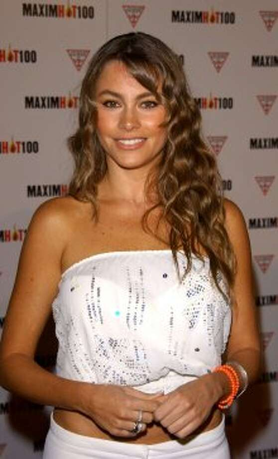 Vergara has also been photographed a lot at various parties. Here she is in 2003, at a Maxim Hot 100 party.  (Getty Images)