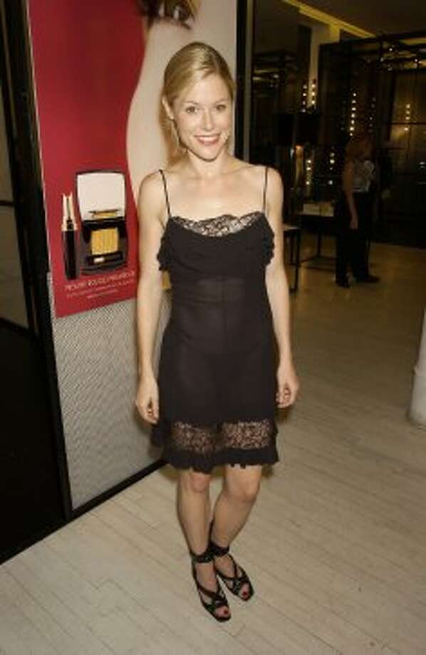 It's a good thing Julie Bowen has discovered high fashion, because she was wearing things like this see-through dress back in 2001. She's at a makeup launch party for Chanel.  (Getty Images)