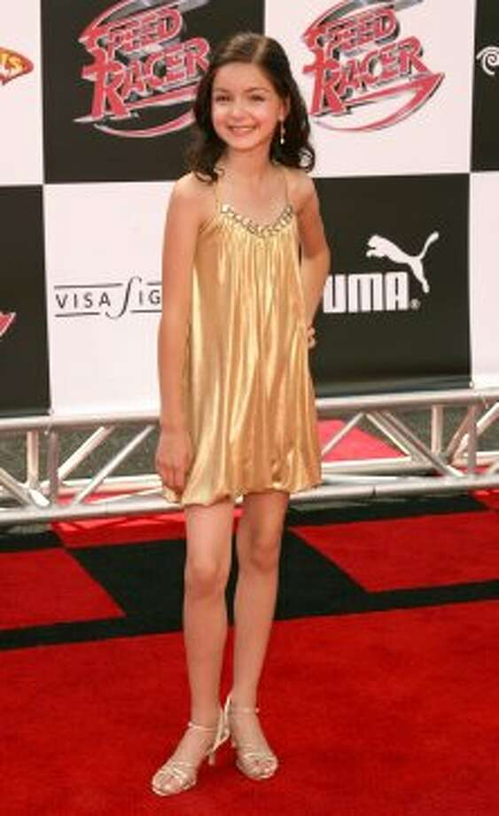 "Ariel back in 2008, when she played a young Trixie Shimura in the movie ""Speed Racer."" She's pictured at the movie's premiere.  (Jesse Grant / Getty Images)"
