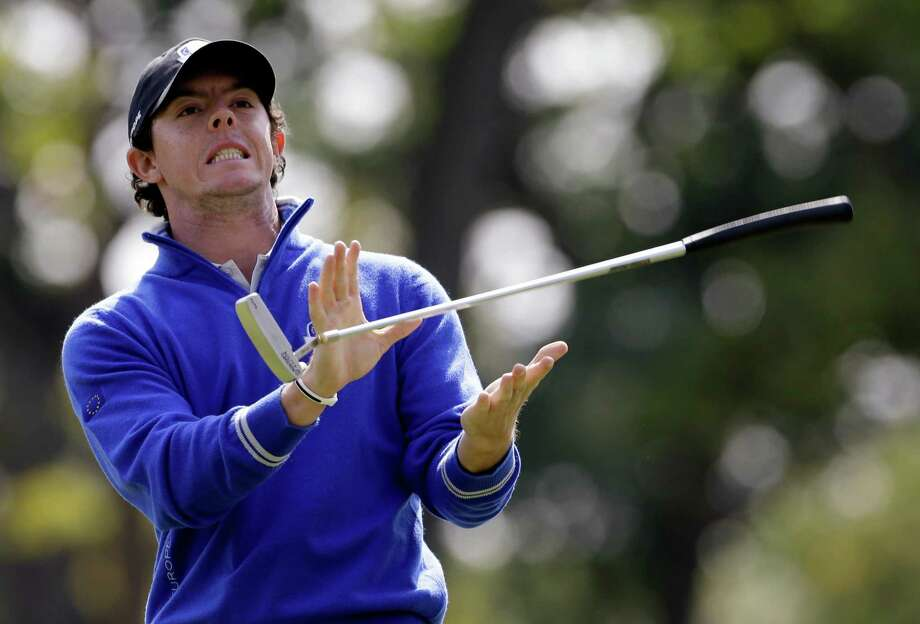 Rory McIlroy's putter betrays him during a practice round Wednesday. Photo: Chris Carlson / AP