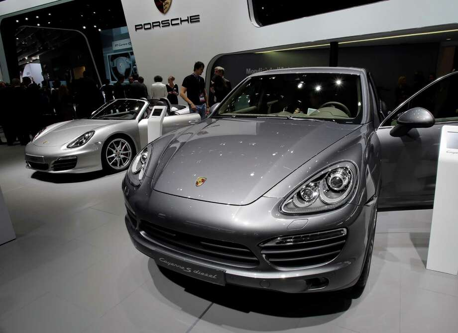 The new Porsche Cayenne S diesel is shown during the press day at the Paris Auto Show, France, Thursday, Sept. 27, 2012. The Paris Auto Show will open its gates to the public from Sept. 29 to Oct. 14. (AP Photo/Michel Euler) Photo: Michel Euler, Associated Press / AP