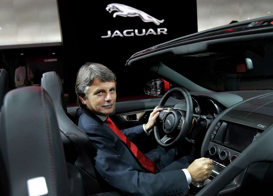 Dr. Ralf D. Speth, Chief Executive Officer of Jaguar LandRover Limited, sits at the wheel of a new Jaguar F-Type during the press day at the Paris Auto Show, France, Thursday, Sept. 27, 2012. The Paris Auto Show will open its gates to the public from Sept. 29 to Oct. 14. (AP Photo/Christophe Ena) Photo: Christophe Ena, Associated Press / AP