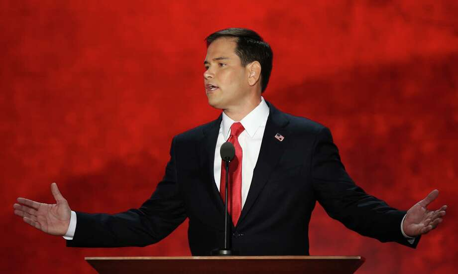 A reader believes Sen. Marco Rubio's speech at the GOP national convention inspired Mayor Julian Castro's speech at the Democratic convention. Photo: Mark Wilson, Getty Images / 2012 Getty Images