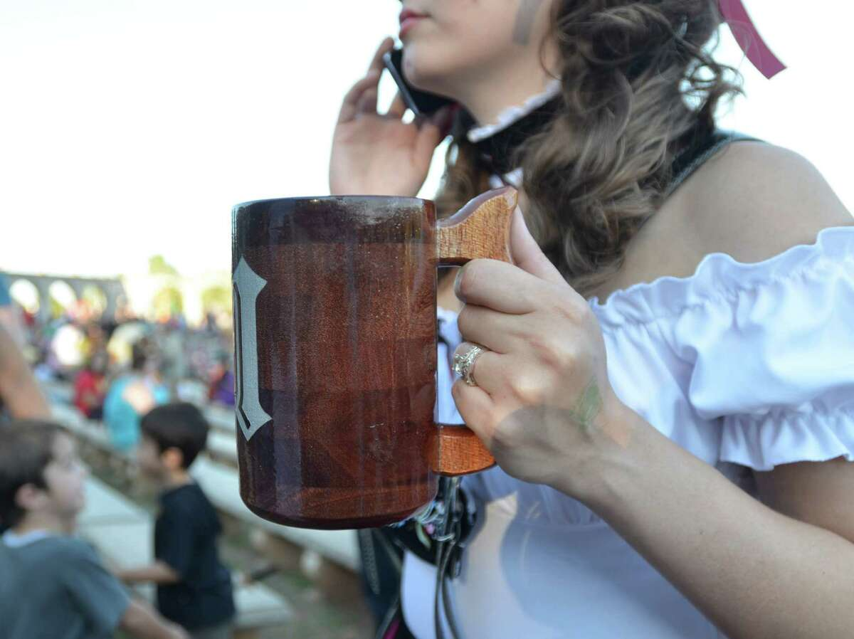 The proper drinking vessel is of utmost importance at the Texas Renaissance Festival. Beth Rankin/cat5