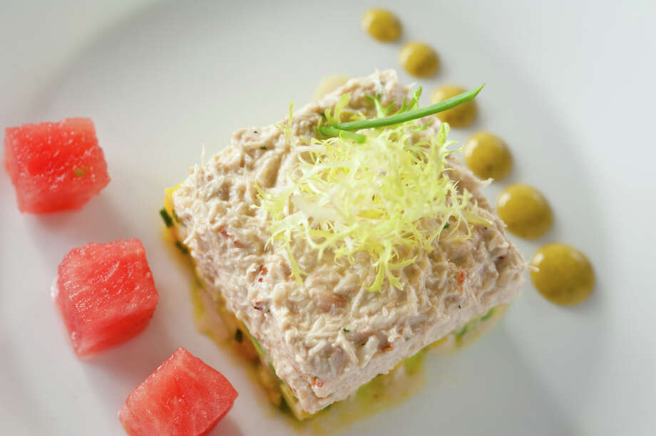 Crab salad at Laurent's Modern Cuisine on Olmos Circle. Photo: For The Express-News