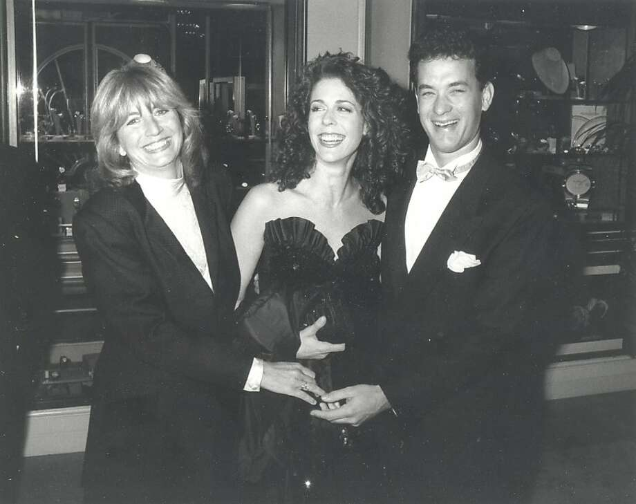 "Penny Marshall (left), with her ""Big"" star Tom Hanks and his wife, Rita Wilson, at the 1989 Golden Globes. Photo: Marshall Family Collection"