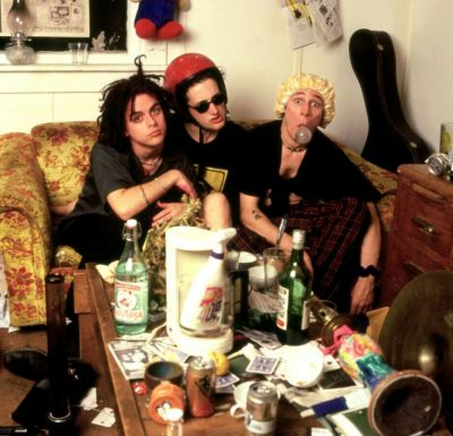 Green Day, 1989: The newly formed East Bay punk trio, pictured with an underused bottle of Formula 409.