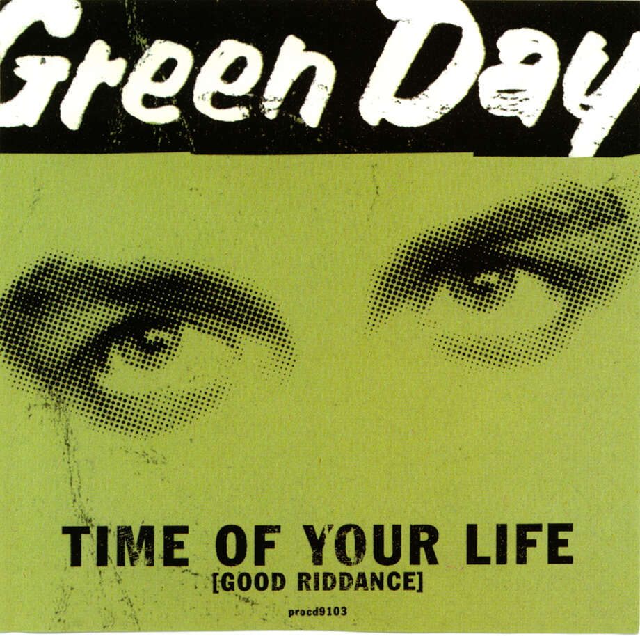 Green Day, 1997: The single sleeve for Time of Your Life (Good Riddance), a.k.a. the 'Seinfeld' finale theme.