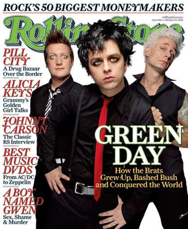 Green Day, 2005: On the cover of Rolling Stone in heavy eyeliner.