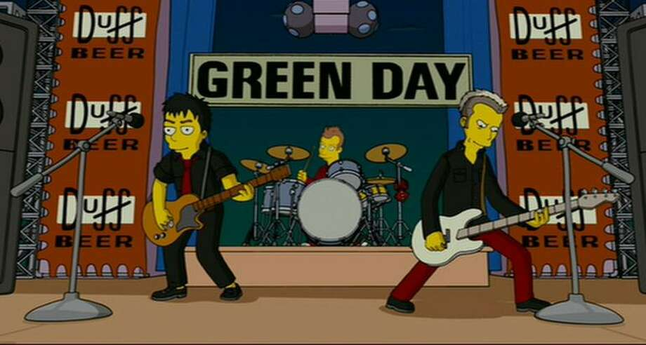 Green Day, 2007: The band hits the pinnacle of success -- it makes it into the world of 'The Simpsons.'