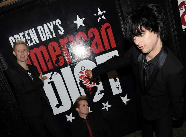 Green Day, 2010: Even they couldn't get tickets for the Broadway Opening of 'American Idiot.' Photo: Jason Kempin, Getty Images / 2010 Getty Images