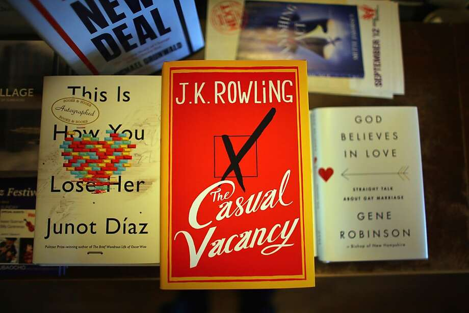 "J.K. Rowling's new novel, ""The Casual Vacancy,"" went on sale Thursday. Photo: Joe Raedle, Getty Images"