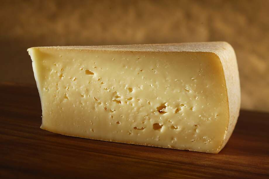 San Geronimo, a cow's milk cheese from Nicasio Valley Cheese Co., is a fragrant, washed-rind wheel. Photo: Craig Lee, Special To The Chronicle